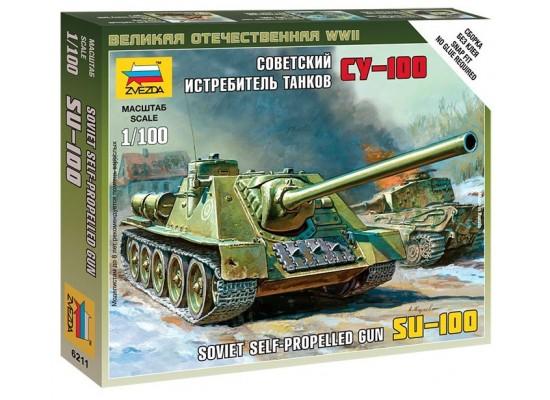 Zvezda 6211 - 1:100 SELF-PROP.GUN SU-100