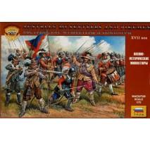 Zvezda 8061 - 1:72 Austrian musketeers and pikemen 16-17th c. - 45 figures