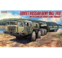 Modelcollect - 1:72 Soviet/Russian Army MAZ-7410 with ChMZAP-9990 semi-trailer