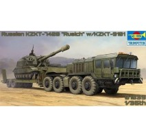 Trumpeter 01039 - 1:35 Russian KZKT-7428 Transporter with KZKT-9101 Semi-Trailer