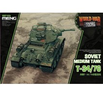 MENG WWT-006 - Soviet Medium Tank T-34/76 (cartoon model) - snap-fit