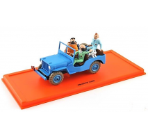 Atlas  1:43 - JEEP CJ 2a 24 - OBJECTIF LUNE - Tintin Collection by Atlas
