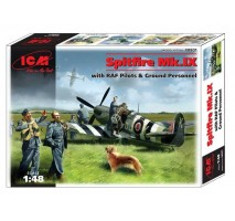 ICM 48801 - 1:48 Spitfire Mk.IX with RAF Pilots and Ground Personnel