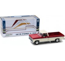 GreenLight 12962 - 1973 Ford F-100 - Red and White Two-Tone