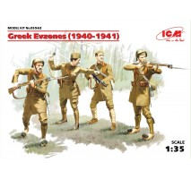ICM 35562 - 1:35 Greek Evzones (1940-1941) (4 figures)