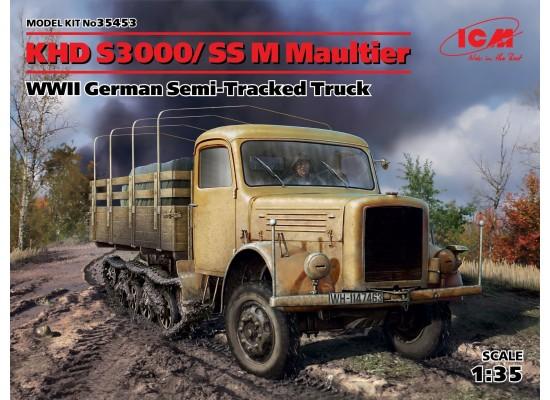 ICM 35453 - 1:35 KHD S3000/SS M Maultier, WWII German Semi-Tracked Truck