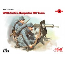 ICM 35697 - 1:35 WWI Austro-Hungarian MG Team (100% new molds) - 2 figures