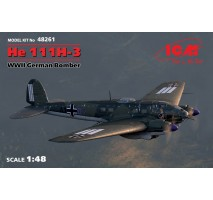 ICM 48261 - 1:48 He 111H-3, WWII German Bomber (100% new molds)