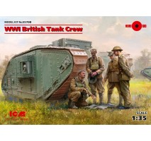 ICM 35708 - 1:35 WWI British Tank Crew (4 figures) (100% new molds)