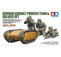 Tamiya 35357 - 1:35 German Assault Pioneer Team & Goliath Set - 3 figures
