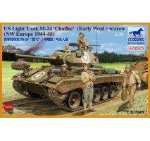 Bronco Models CB35069 - 1:35 US Light Tank M-24 'Chaffee' (Early Prod.) w/Crew (NW Europe)