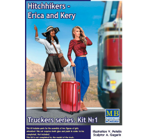 Masterbox 24041 - 1:24 Truckers series. Hitchhikers, Erica & Kery