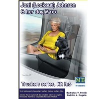 Masterbox 24045 - 1:24 Truckers series. Joni (Lookout) Johnson & her dog Maxx