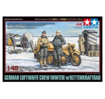 TAMIYA 32412 - 1:48 German Luftwaffe Crew (Winter) w/Kettenkraftrad