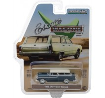 GreenLight 29910-A - 1955 Chevrolet Nomad - Glacier Blue and Shoreline Beige Solid Pack - Estate Wagons Series 1