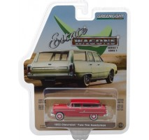 GreenLight 29910-B - 1955 Chevrolet Two-Ten Handyman - Gypsy Red Solid Pack - Estate Wagons Series 1