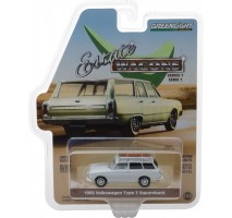 GreenLight 29910-D - 1968 Volkswagen Type 3 Squareback - Lotus White with Roof Rack Solid Pack - Estate Wagons Series 1