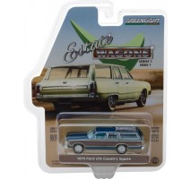 GreenLight 29910-E - 1979 Ford LTD Country Squire - Midnight Blue Solid Pack - Estate Wagons Series 1