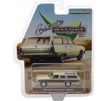 GreenLight 29910-F - 1985 Ford LTD Country Squire - Light Wheat with Wood Paneling Solid Pack - Estate Wagons Series 1