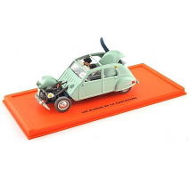 Atlas  1:43 - CITROEN 2CV belge 48 - LES BIJOUX DE LA CASTAFIORE - Tintin Collection by Atlas