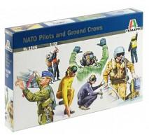 Italeri 1246 - 1:72 NATO PILOTS AND GROUND CREWS - 48 figures