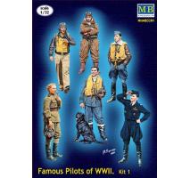 Masterbox 3201 - 1:32 Series Famous pilots of WWII era, kit No.1 - 6 figures