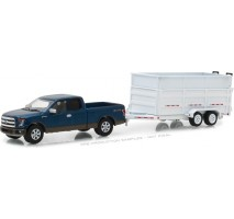 GreenLight 32120-C - Hitch & Tow Series 12 - 2016 Ford F-150 and Double-Axle Dump Trailer Solid Pack