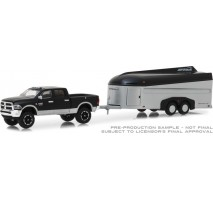 GreenLight 32150-B - 2017 Ram 2500 with Aerovault MKII Trailer Solid Pack - Hitch & Tow Series 15