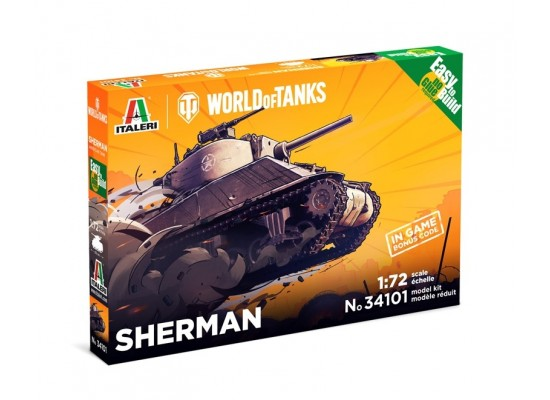 Italeri 34101 - 1:72 SHERMAN - World of Tanks - Easy to Build