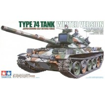 TAMIYA 35168 - 1:35 JGSDF Type 74 Winter Tank Version - 2 figures
