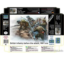 Masterbox 35114 - 1:35 British infantry before the attack, WW II era - 7 figures