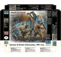 Masterbox 35116 - 1:35 Hand-to-hand fight, German & British Infantrymen, WW I era - 5 figures