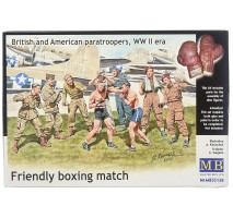 Masterbox 35150 - 1:35 Friendly boxing match. British and American paratroopers, WW II era - 9 figures
