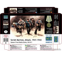 Masterbox 35153 - 1:35 Soviet Marines, Attack, 1941-1942. Eastern Front Battle Series, Kit No.3 - 5 figures