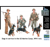 Masterbox 35155 - 1:35 Dogs in service in the US Marine Corps, WW II era - 6 figures