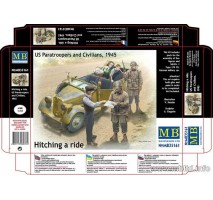 Masterbox 35161 - 1:35 Hitching a ride, US Paratroopers and Civilians, 1945 - 5 figures
