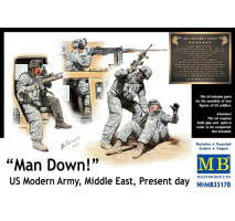 Masterbox 35170 - 1:35 Man Down! US Modern Army, Middle East, Present day - 4 figures