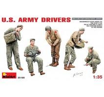 Miniart 35180 - 1:35 U.S. Army Drivers - 5 figures