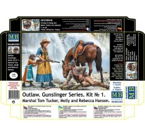 Masterbox 35203 - 1:35 Outlow. Gunslinger series. Kit No. 1. Marshal Tom Tucker, Molly and Rebecca Hanson - 3 figures