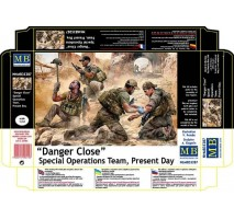 Masterbox 35207 - 1:35 Danger Close. Special Operations Team, Present Day - 4 figures