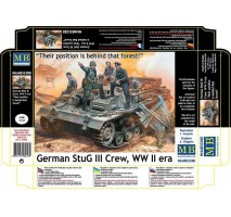 "Masterbox 35208 - 1:35 German StuG III Crew, WW II era. ""Their position is behind that forest!"" - 5 figures"