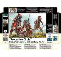 Masterbox 35209 - 1:35 Protective Circle. Indian Wars series, XVIII century. Kit No. 1 - 4 figures