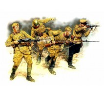 Masterbox 3523 - 1:35 Eastern Front Series. Kit № 2. Soviet Infantry in action, 1941-1942 - 4 figures