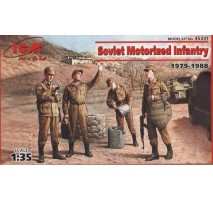 ICM 35331 - 1:35 Soviet Motorized Infantry (1979-1988) (4 figures - 1 officer, 3 soldiers)