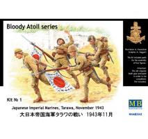 Masterbox 3542 - 1:35 Bloody Atoll series. Kit No 1, Japanese Imperial Marines, Tarawa, November 1943 - 4 figures