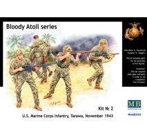 Masterbox 3543 - 1:35 Bloody Atoll series. Kit No 2, U.S. Marine Corps Infantry, Tarawa, November 1943 - 4 figures