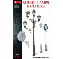 Miniart 35560 - 1:35 Street Lamps & Clocks