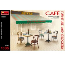Miniart 35569 - 1:35 Cafe Furniture & Crockery