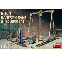 Miniart 35589 - 1:35 5 Ton Gantry Crane & Equipment