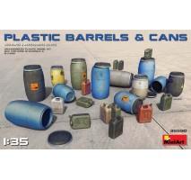 Miniart 35590 - 1:35 Plastic Barrels & Cans